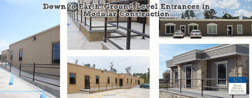 ground level entrance for modular building